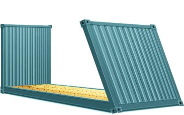 2040-футовый-контейнер-–-платформа-Flat-Rack-Collapsible
